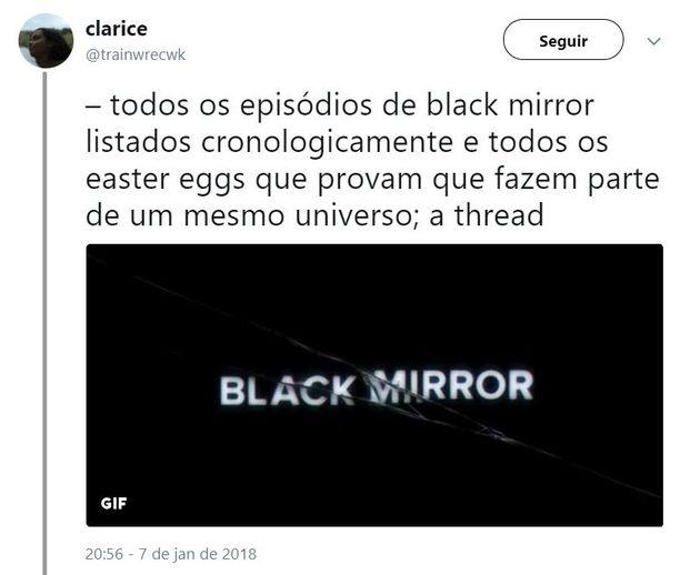 Esta teoria prova que os episódios de 'Black Mirror' têm uma ordem