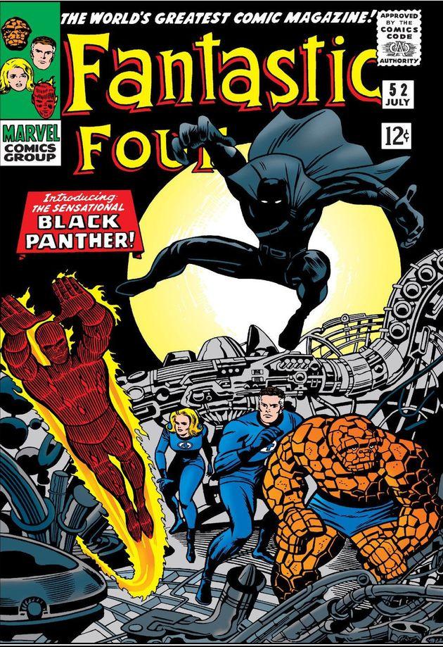 Capa de 'Fantastic Four' #52 desenhada por Jack Kirby (1917-1994), lenda das HQs de