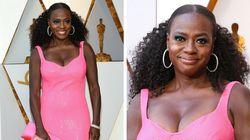 Viola Davis vestindo cor-de-rosa é a melhor imagem do Oscar (até