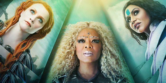 Da esq. para a dir.: Reese Witherspoon, Oprah Winfrey e Mindy Kaling são, respectivamente, as senhoras...