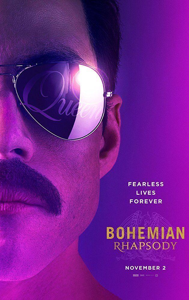 Pôster oficial de 'Bohemian Rhapsody', que chega aos cinemas no próximo mês de