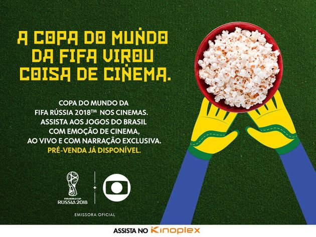 Rede de cinemas Kinoplex vai exibir jogos do Brasil na Copa da