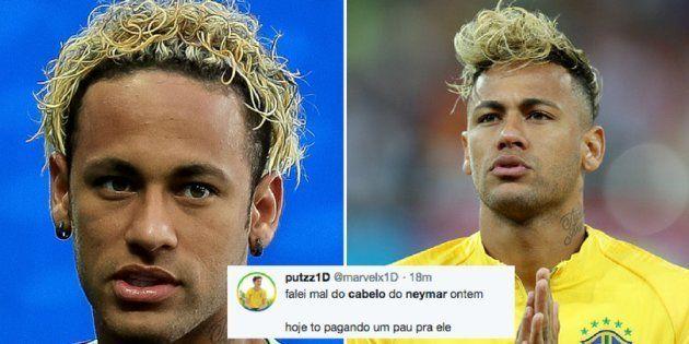 Neymar e seus cabelos sempre chamam atenção da