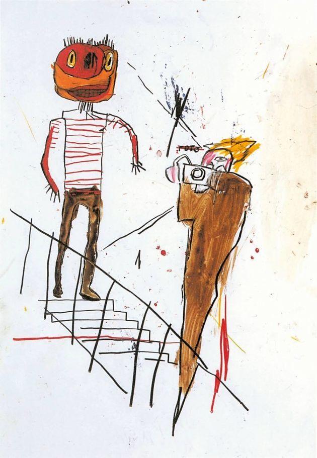 Umas das obras de Basquiat presentes no livro 'A Vida Não Me