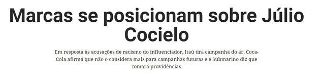 O que podemos aprender com o episódio racista de Júlio Cocielo, segundo ativistas