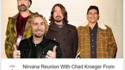 Nickelvana: Criaram um evento para reunião do Nirvana com Chad Kroeger nos