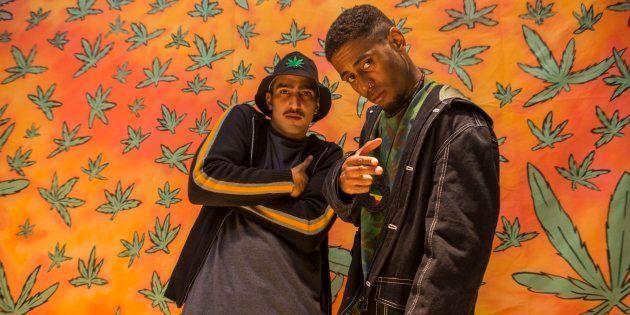 D2 (Renato Góes) e Skunk (Ícaro Silva): parceria musical que ganhou o