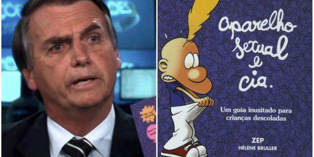 Em sabatina no Jornal Nacional, Jair Bolsonaro relacionou 'Aparelho Sexual e Cia' ao 'kit