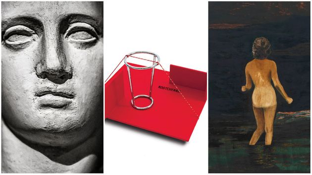 Três obras que integram a 33ª Bienal, realizadas por Sofia Borges, Waltercio Caldas e Mamma Andersson,