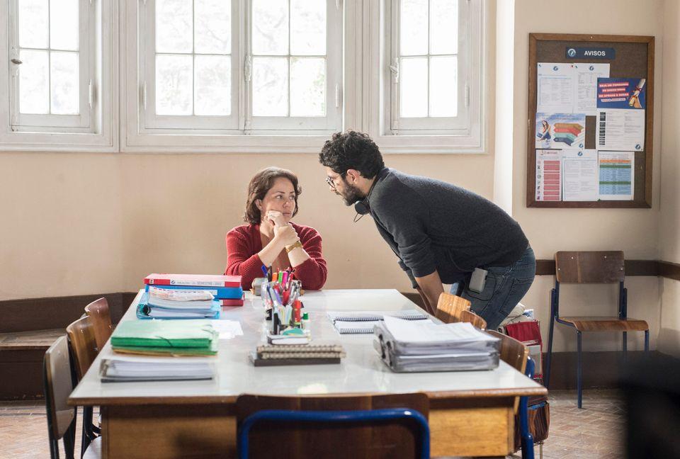 Gustavo Pizzi dirige Karine Teles em