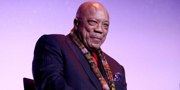 Quincy Jones na première do filme, que ocorreu neste fim de semana no Festival de