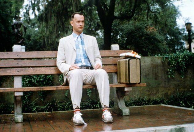 Tom Hanks em cena do filme Forrest