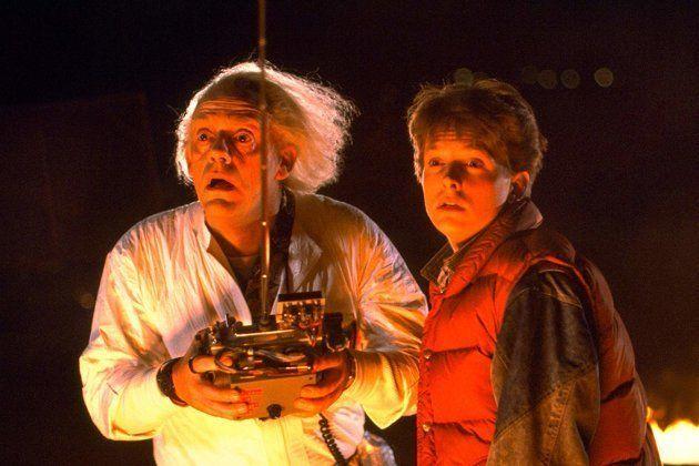 Christopher Lloyd e Michael J Fox em cena do filme De Volta Para o