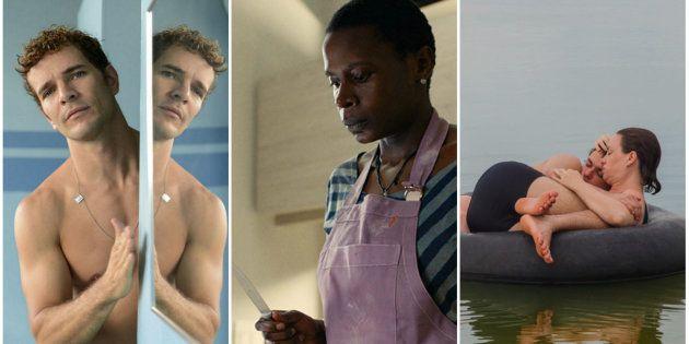 Na montagem, cenas de três produções que integram a programação: 'Aos Teus Olhos', 'As Boas Maneiras'...