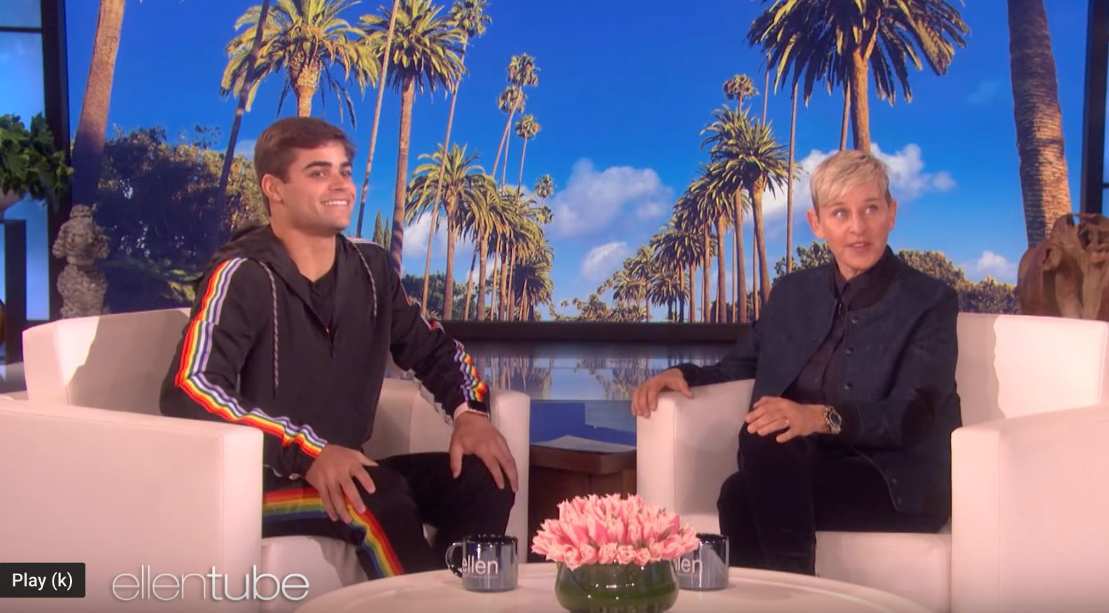"College football player Jake Bain appeared on ""The Ellen DeGeneres Show"" on Monday."