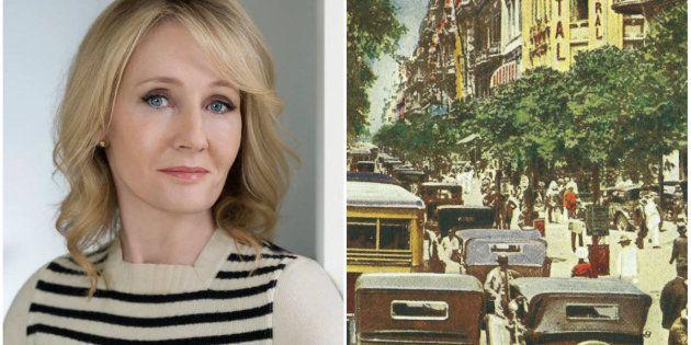 Imagem dos Rio de Janeiro nos anos 1930 estampa hoje a capa do perfil de J.K. Rowling no