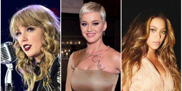 Katy Perry, Taylor Swift e Beyoncé aparecem no topo da lista anual da revista