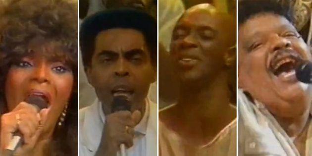 Elza Soares, Gilberto Gil, Jorge Lafond e Tim Maia participaram da vinheta especial em