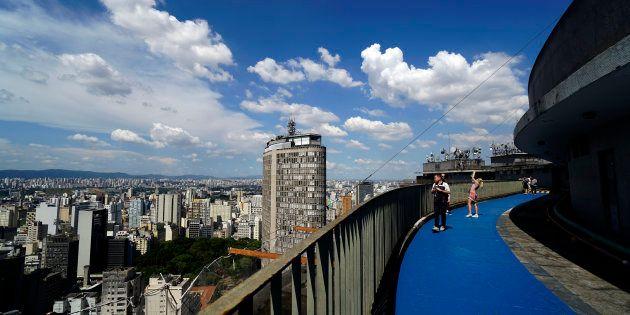 Vista do Edifício Copan, no Centro de São