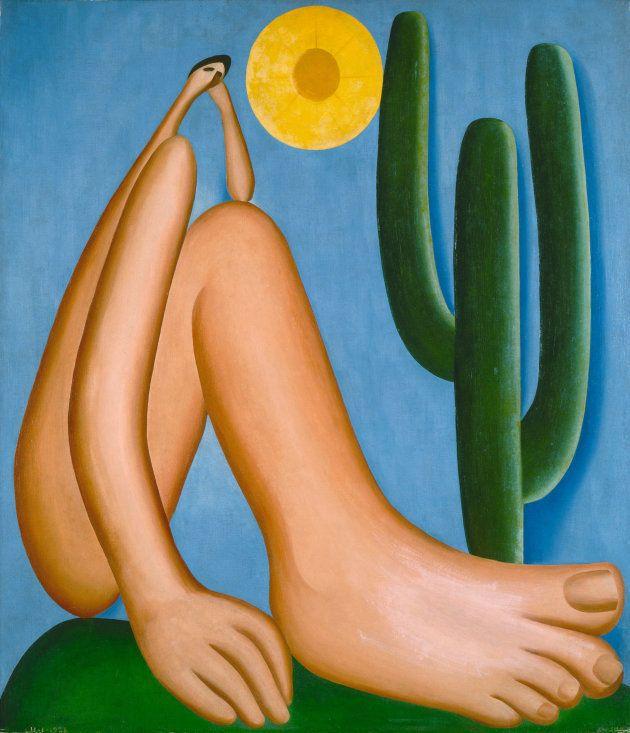 Abaporu, considerado uma obra-prima de uma obra-prima de Tarsila do Amaral