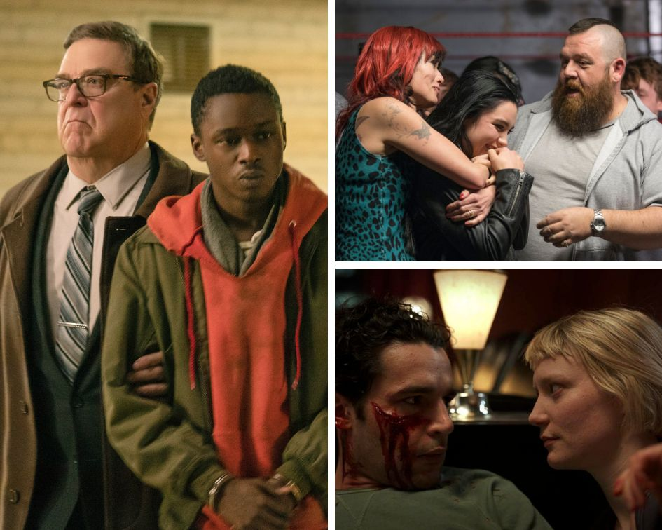 "Clockwise from left: ""Captive State,"" ""Fighting with My Family"" and ""Piercing."""