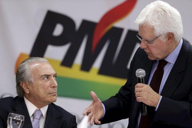 Michel Temer e Moreira Franco: a escolha de cargos de acordo com o orçamento possível para arrecadar