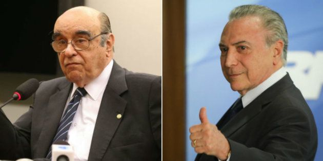 Relator da segunda denúncia contra o presidente Michel Temer, o deputado Bonifácio de Andrada (PSDB-MG)...