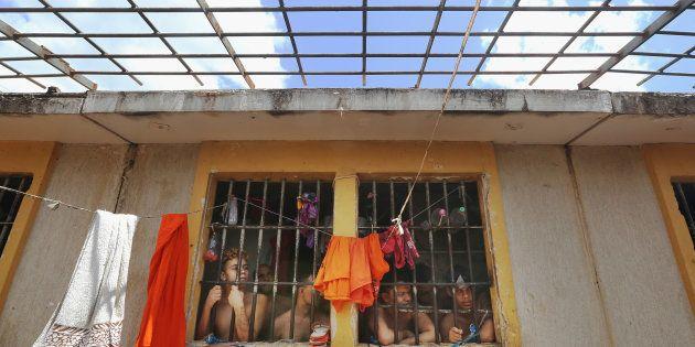 Detentos no Complexo Penitenciário de Pedrinhas, no