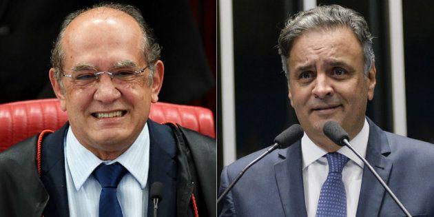Ministro do Supremo Tribunal Federal Gilmar Mendes e senador Aécio Neves (PSDB-MG) fizeram 46 ligações...