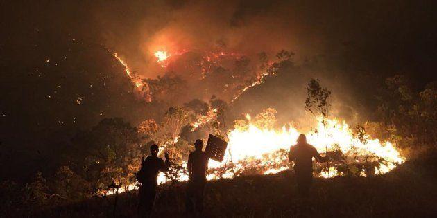 Incêndio já atingiu 22% do Parque Nacional da Chapada dos Veadeiros, em