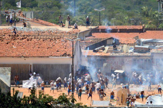 Rebelião na penitenciária de Alcacuz, no Rio Grande do