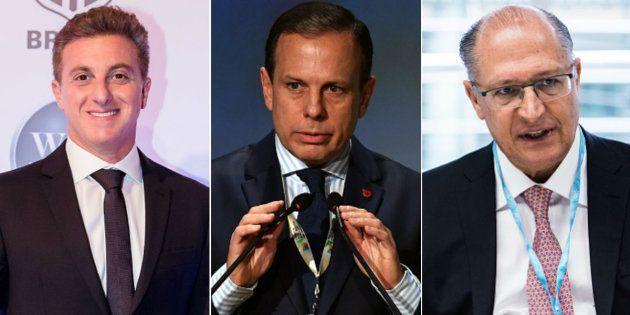 Apresentador Luciano Huck empata com prefeito de São Paulo, João Doria, e goverandor do estado, Geraldo...