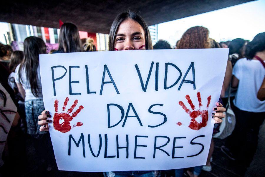 Protesto em São Paulo contra violência contra as