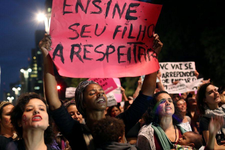 Protesto em São Paulo a favor dos direitos das