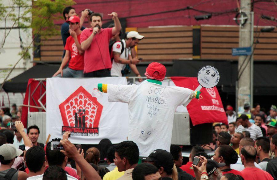 Boulos em ato do MTST em São