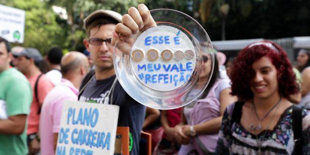Protesto de professores do governo de São