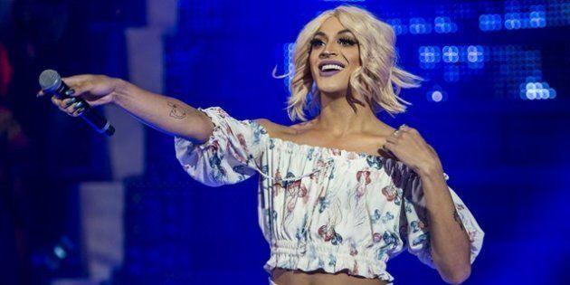 Drag queen Pablo Vittar participa do programa Caldeirão do Huck, da Rede