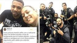 Limites? Policiais posam sorrindo em selfie com bandido mais procurado do