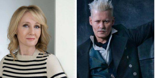 J.K Rowling apoia papel de Johnny Depp em 'Animais