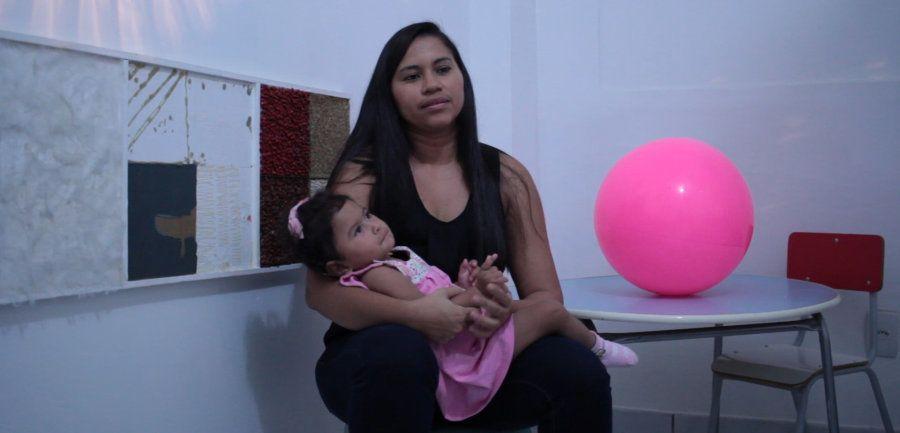 Fundadora da associação de mães de crianças com síndrome congênita do zika em Alagoas, Gilza Santos Silva...