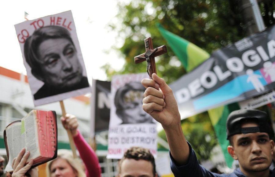 Protesto contra Judith Butler no