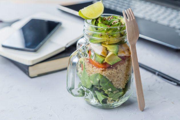 Almoço saudável no