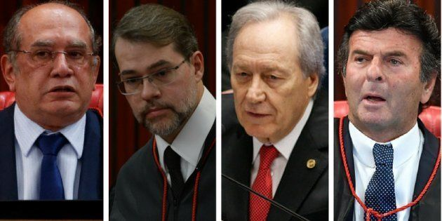 Ministros do STF (Supremo Tribunal Federal( Gilmar Mendes, Dias Toffoli, Ricardo Lewandowski e Luiz Fux...