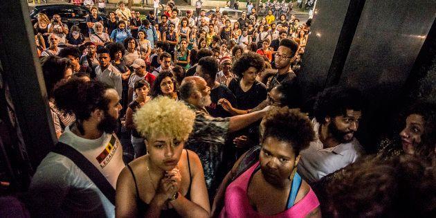 Protesto em São Paulo em 2016 contra o racismo e a violência