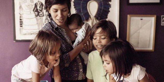 Luanda Fonseca compartilha os desafios de educar quatro