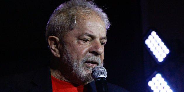 Ex-presidente Lula fala em ato em sua defesa em janeiro de 2018, em São