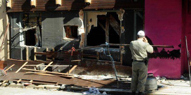 Boate Kiss após incêndio em janeiro de 2013 provocado por