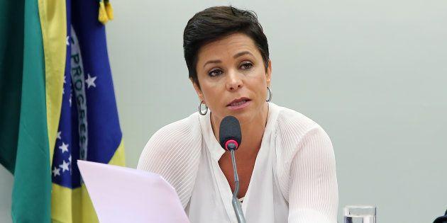 Deputada Cristiane Brasil (PTB-RJ) em audiência pública na Câmara dos Deputados sobre a situação na