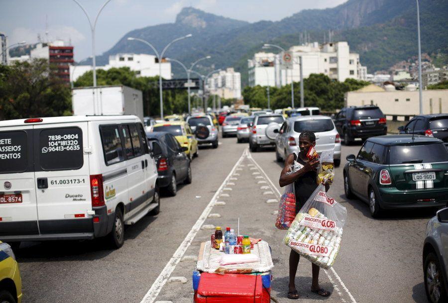 Vendedor de rua no Rio de