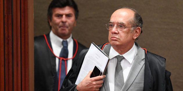 Ministros Luiz Fux e Gilmar Mendes no TSE (Tribunal Superior